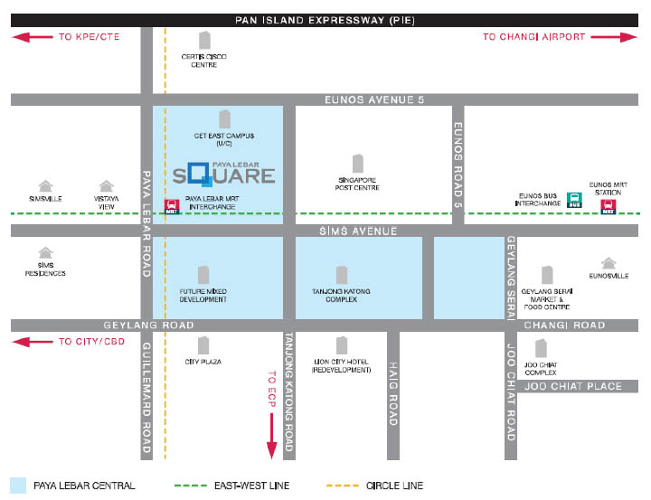 paya lebar square map