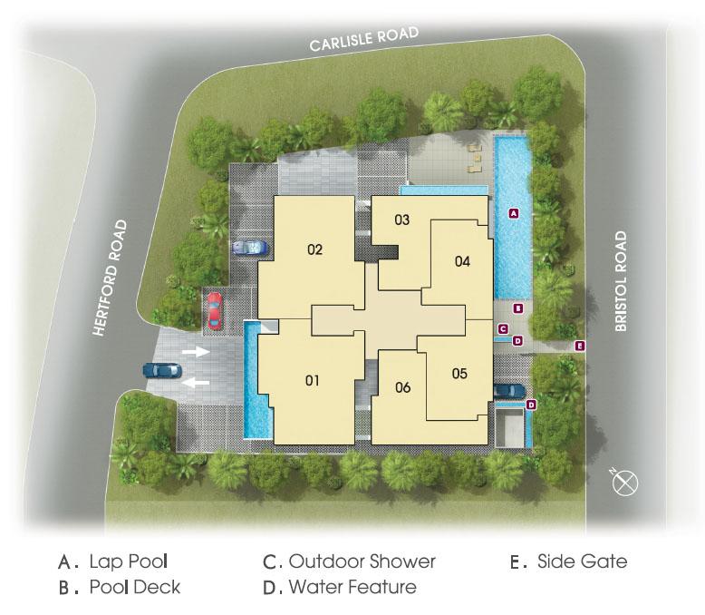 Hertfold Collection site plan